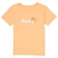 tekstylia Dziewczynka T-shirty z krótkim rękawem Roxy DAY AND NIGHT FOIL Różowy