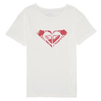 tekstylia Dziewczynka T-shirty z krótkim rękawem Roxy DAY AND NIGHT PRINT Biały