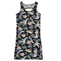 tekstylia Dziewczynka Sukienki krótkie Roxy FLOWER SHADOW DRESS Czarny