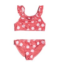 tekstylia Dziewczynka Kostium kąpielowy dwuczęściowy Roxy TEENY EVERGLOW CROP TOP SET Różowy