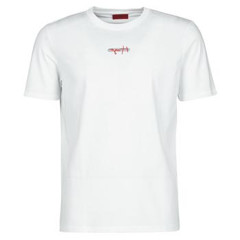 tekstylia Męskie T-shirty z krótkim rękawem HUGO DURNED Biały