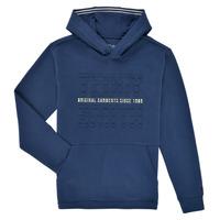 tekstylia Chłopiec Bluzy Teddy Smith S-RUN HOODY Marine