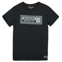 tekstylia Chłopiec T-shirty z krótkim rękawem Teddy Smith T-VANY Czarny
