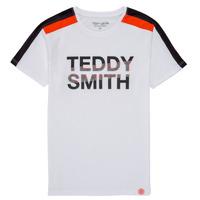 tekstylia Chłopiec T-shirty z krótkim rękawem Teddy Smith T-MACK Biały