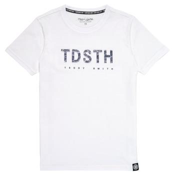 tekstylia Chłopiec T-shirty z krótkim rękawem Teddy Smith T-MAX Biały