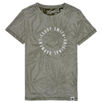 tekstylia Chłopiec T-shirty z krótkim rękawem Teddy Smith T-OTYS Kaki