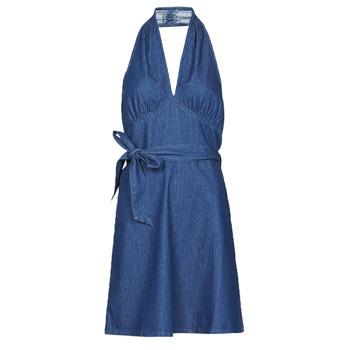 tekstylia Damskie Sukienki krótkie Molly Bracken EL902P21 Niebieski