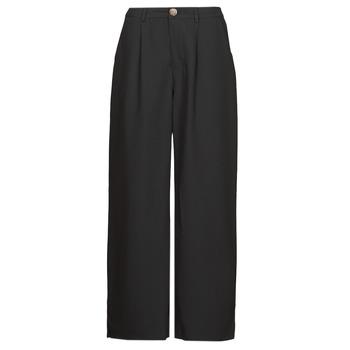 tekstylia Damskie Spodnie z lejącej tkaniny / Alladynki Molly Bracken EF1424P21 Czarny