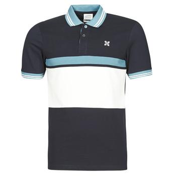 tekstylia Męskie Koszulki polo z krótkim rękawem Oxbow N1NIREMO Marine