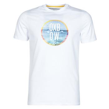 tekstylia Męskie T-shirty z krótkim rękawem Oxbow N1TERO Biały
