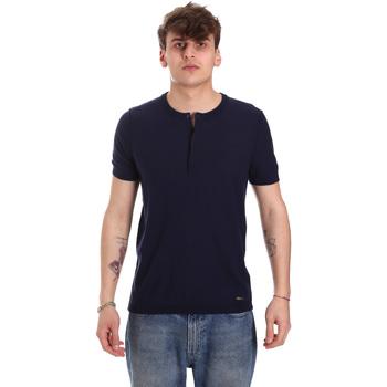 tekstylia Męskie T-shirty z krótkim rękawem Gaudi 011BU53007 Niebieski