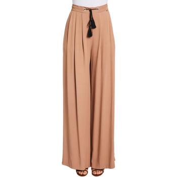 tekstylia Damskie Spodnie z lejącej tkaniny / Alladynki Gaudi 011FD25019 Brązowy
