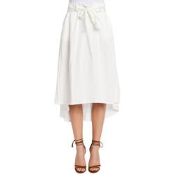 tekstylia Damskie Spódnice Gaudi 011FD75012 Biały