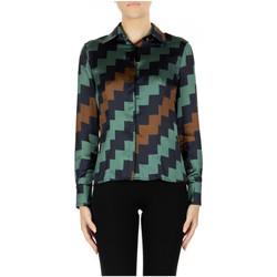 tekstylia Damskie Koszule Try Me CAMICIA var-1-logo-blu