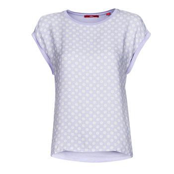 tekstylia Damskie T-shirty z krótkim rękawem S.Oliver 14-1Q1-32-6972-48B2 Niebieski