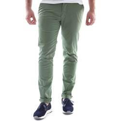 tekstylia Męskie Chinos Sei3sei 6OYSTER E1648 Zielony