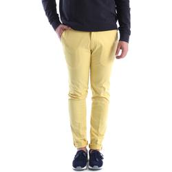tekstylia Męskie Chinos Sei3sei 6OYSTER E1648 Żółty