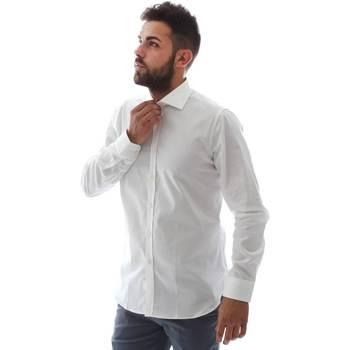 tekstylia Męskie Koszule z długim rękawem Gmf EQ2 1428 951106/01 Biały