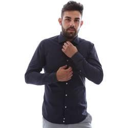 tekstylia Męskie Koszule z długim rękawem Gmf EQ2 1079 952151/02 Niebieski