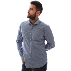 tekstylia Męskie Koszule z długim rękawem Gmf GMF3 3218 961153/01 Niebieski
