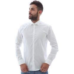 tekstylia Męskie Koszule z długim rękawem Gmf GMF5 4864 8 Biały