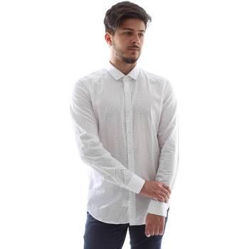 tekstylia Męskie Koszule z długim rękawem Gmf FS15 961138/1 Biały