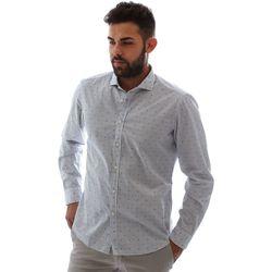 tekstylia Męskie Koszule z długim rękawem Gmf 961232/4 Biały