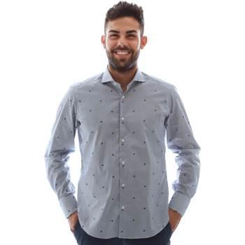 tekstylia Męskie Koszule z długim rękawem Gmf 961231/4 Niebieski