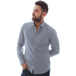 tekstylia Męskie Koszule z długim rękawem Gmf 961151/3 Niebieski
