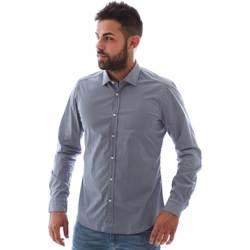 tekstylia Męskie Koszule z długim rękawem Gmf 961146/2 Niebieski