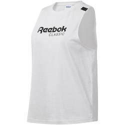 tekstylia Damskie Topy na ramiączkach / T-shirty bez rękawów Reebok Sport DT7235 Biały