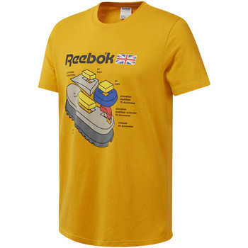 tekstylia Męskie T-shirty z krótkim rękawem Reebok Sport DT8125 Żółty