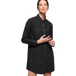 tekstylia Damskie Sukienki krótkie Superdry G80013OR Czarny