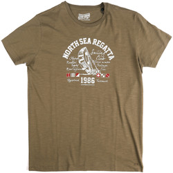 tekstylia Męskie T-shirty z krótkim rękawem Key Up 2G78S 0001 Zielony