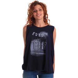 tekstylia Damskie Topy na ramiączkach / T-shirty bez rękawów Key Up 5Z14S 0001 Niebieski