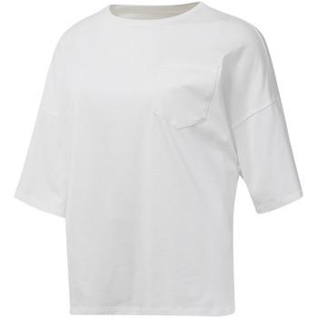 tekstylia Damskie T-shirty z krótkim rękawem Reebok Sport DU4048 Biały