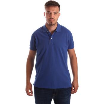 tekstylia Męskie Koszulki polo z krótkim rękawem Navigare NV82086 Niebieski