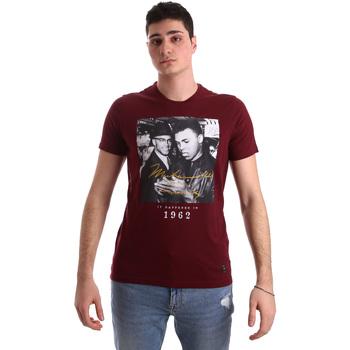 tekstylia Męskie T-shirty z krótkim rękawem Gaudi 921BU64003 Czerwony