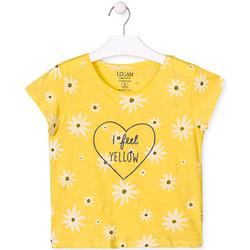 tekstylia Dziewczynka T-shirty z krótkim rękawem Losan 014-1013AL Żółty