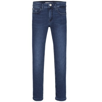 tekstylia Dziewczynka Jeansy skinny Calvin Klein Jeans SKINNY ESS ROYAL BLUE Niebieski