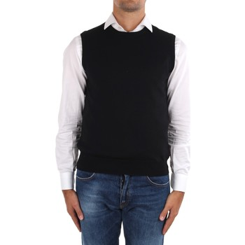 tekstylia Męskie Swetry rozpinane / Kardigany La Fileria 14290 55168 Czarny