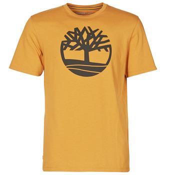 tekstylia Męskie T-shirty z krótkim rękawem Timberland SS KENNEBEC RIVER BRAND TREE TEE Camel