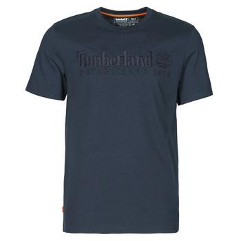 tekstylia Męskie T-shirty z krótkim rękawem Timberland SS OUTDOOR HERITAGE LINEAR LOGO TEE REGULAR Marine