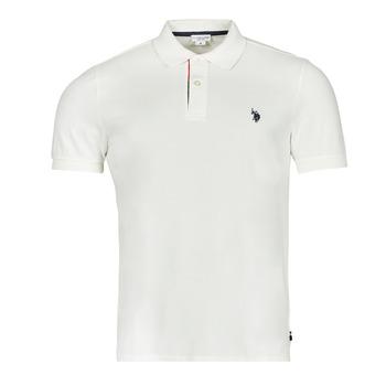 tekstylia Męskie Koszulki polo z krótkim rękawem U.S Polo Assn. CURT POLO Biały