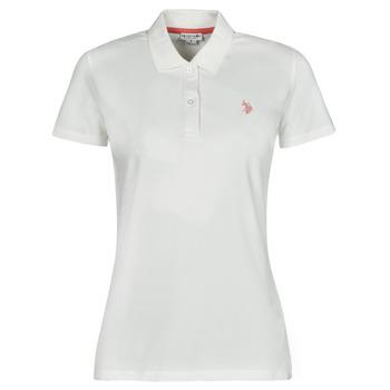 tekstylia Damskie Koszulki polo z krótkim rękawem U.S Polo Assn. LOGO POLO SS Biały