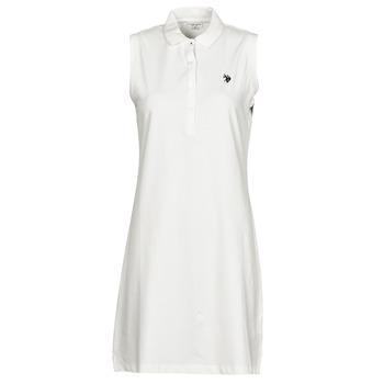 tekstylia Damskie Sukienki krótkie U.S Polo Assn. AMY DRESS POLO SLEEVELESS Biały