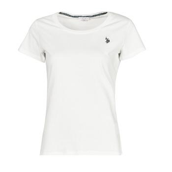 tekstylia Damskie T-shirty z krótkim rękawem U.S Polo Assn. BELLA R NECK TEE SS Biały
