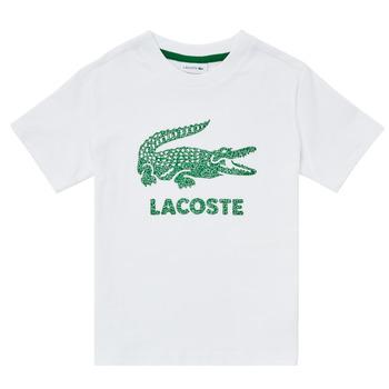 tekstylia Chłopiec T-shirty z krótkim rękawem Lacoste TJ1965-001 Biały