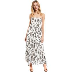 tekstylia Damskie Sukienki długie Gaudi 011FD15004 Biały
