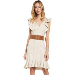 tekstylia Damskie Sukienki krótkie Gaudi 011FD15057 Beżowy